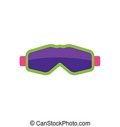 lakás, mód, maszk, védőszemüveg, síelés, snowboarding