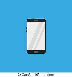 lakás, mód, smartphone, ikon