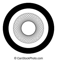 lakás, mód, spirograph, szín, motívum, elvont, grafikus, karika, ábra, elem, alakít, vektor, fekete, körkörös, fractal, kép, kerek, ikon