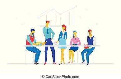lakás, mód, színes, ügy, -, ábra, tervezés, gyűlés