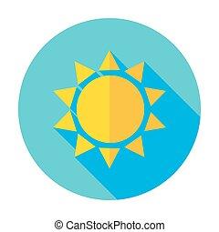 lakás, nap, hosszú, napvilág, karika, árnyék, ikon