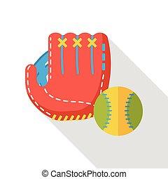 lakás, sport, baseball, ikon