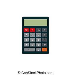lakás, számológép, style., ikon