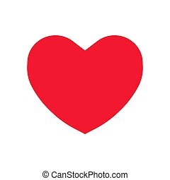 lakás, szív, jelkép, aláír, vektor, ikon