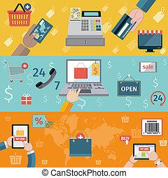 lakás, t-commerce, transzparens