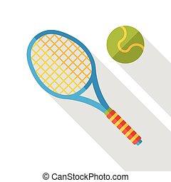 lakás, tenisz, sport, ikon