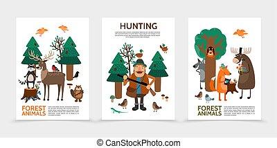 lakás, vadászat, plakátok