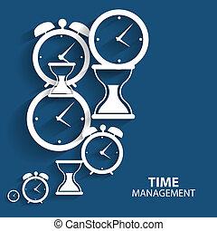 lakás, vezetőség, háló, mozgatható, modern, vektor, idő, ikon