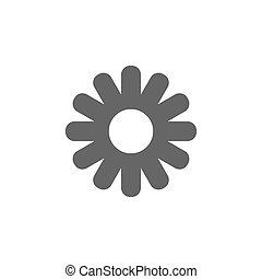 lakás, virág, ábra, elszigetelt, vektor, háttér, icon., fehér, design.