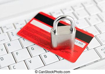 lakat, keyboard., kártya, hitel