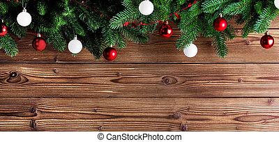lakberendezési tárgyak, fenyő fa, karácsony