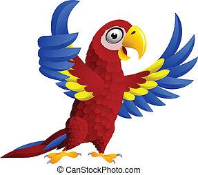 lapozgat, ara papagáj, feláll, madár