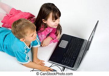laptop, gyerekek
