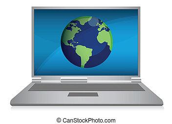 laptop, internet