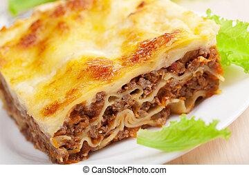 lasagna, bolognese