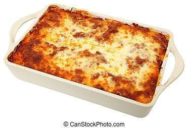 lasagna, cassarole, egész