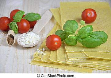 lasagna, előkészítő, finom