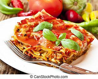 lasagna, vegetáriánus
