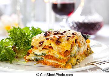lasagne, vegetáriánus
