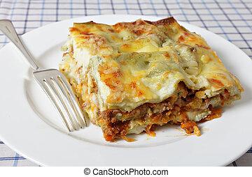 lasagne, villa, szelet