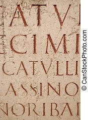 latin, faragott, forgatókönyv, ősi