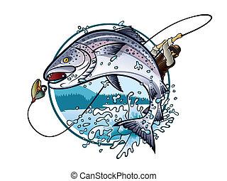 lazac, halászat