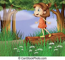 leány, erdő