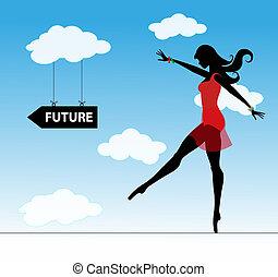 leány, jövő