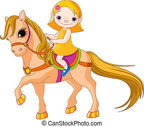 leány, ló