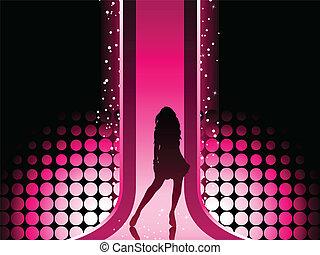 leány, színes, mód, szexi, catwalk., gyönyörű