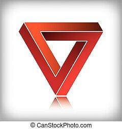 lehetetlen, háromszög