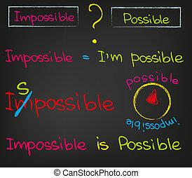lehetetlen, vs, lehetséges