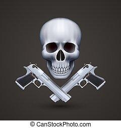 lelő, koponya