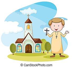 lelkész, templom