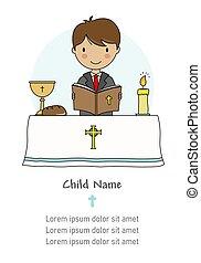 lelki közösség, card., felolvasás, biblia, fiú