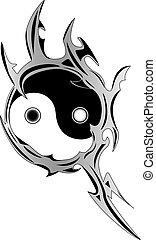 lelki, yin, jelkép, yang