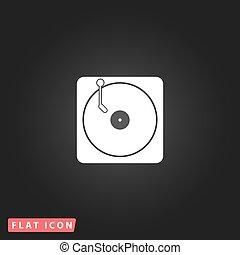 lemezjátszó, dj, ikon