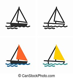 lengés, vitorlás hajó, lenget, tenger