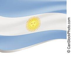 lenget lobogó, argentína, white háttér