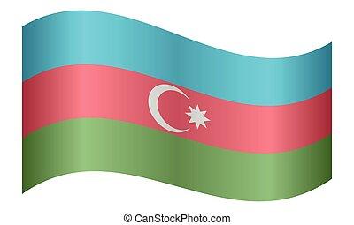 lenget lobogó, fehér, azerbajdzsán, háttér