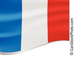 lenget lobogó, fehér, elszigetelt, franciaország