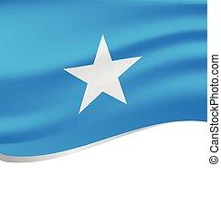 lenget lobogó, fehér, elszigetelt, szomália