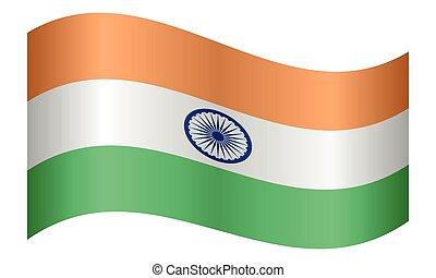 lenget lobogó, india, white háttér