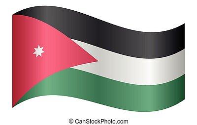 lenget lobogó, jordánia, white háttér