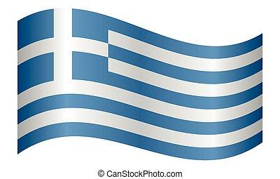 lenget lobogó, white háttér, görögország