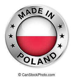 lengyelország, elkészített, jelvény, ezüst