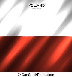 lengyelország, nemzeti lobogó, háttér