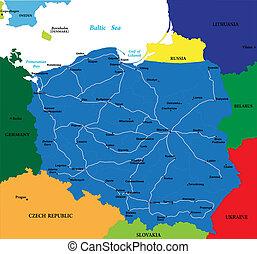 lengyelország, térkép