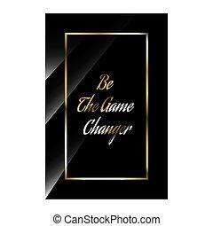 lenni, címez, árajánlatot tesz, inspirálás, finom, vektor, játék, motivációs, changer., quotes., pozitív, fényűzés, ábra, részvény, nyomdászat, szépség