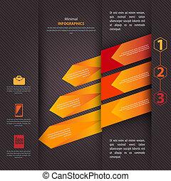 lenni, használt, modern, vektor, tervezés, konzerv, infographics, sablon